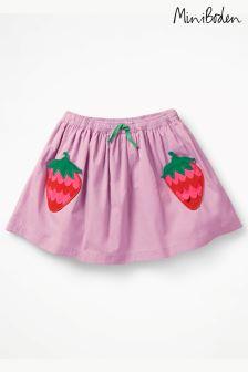 Boden Purple Novelty Pocket Skirt