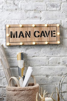 Man Cave Lit Sign