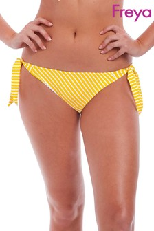 Freya Yellow Stripe Beach Hut Rio Scarf Tie Bikini Brief