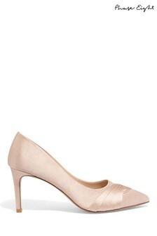 Phase Eight Pink Rosie Satin Court Shoe