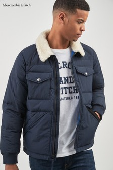 Abercrombie & Fitch Navy Sherpa Jacket