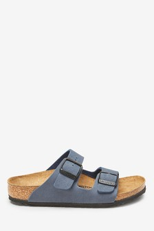 Birkenstock® Kids' Navy Arizona Sandal