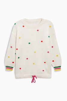 Multicolour Pom Pom Sweater