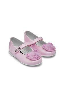 Moschino Kids Girls Pink Shoes