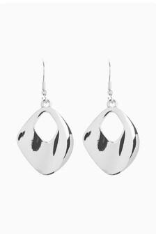 Chunky Metal Drop Earrings