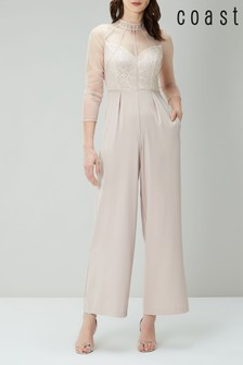 Coast Nude Keeley Lace Corset Jumpsuit