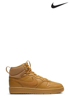 Nike Tan Court Borough Mid 2 Youth Trainers