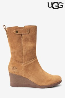 UGG® Potrero Mid Wedge Leather Boots