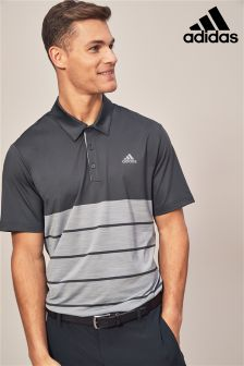 adidas Golf Ultimate 365 Block Stripe Polo