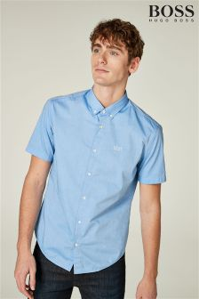 BOSS Blue Short Sleeve Shirt