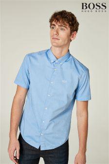 BOSS Blue Short Sleeve Shirt