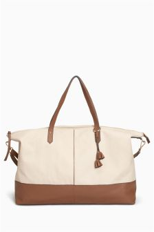 Leather Canvas Weekender Bag