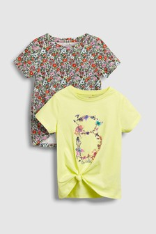 Floral T-Shirts Two Pack (3-16yrs)