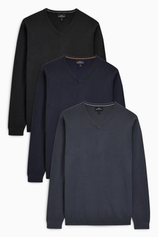V-Neck Jumpers Three Pack