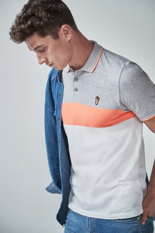 Neon Colourblock Polo
