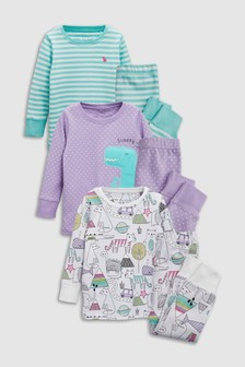 Dino Snuggle Pyjamas Three Pack (9mths-8yrs)