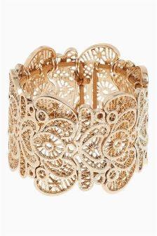 Lace Effect Bracelet Cuff