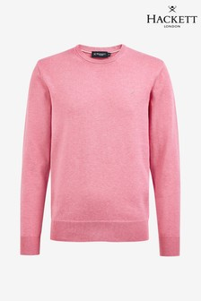 Hackett Pink Cotton Silk Crew Sweater