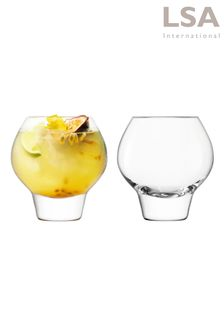 Set of 2 LSA International Rum Balloon Tumbler Glasses