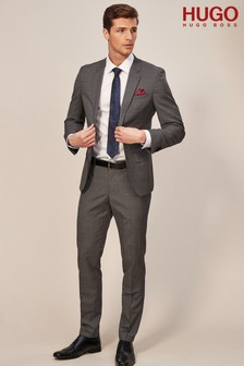 HUGO Grey Puppytooth Suit Trouser