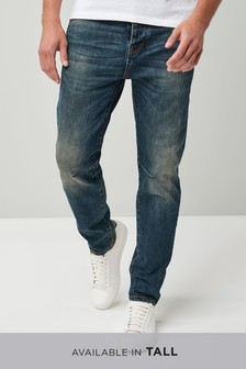 Tapered Fit Utility Stretch Jeans