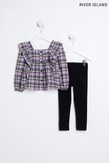 Figleaves Blue Pattaya Soft Halter Bikini Top
