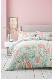 Delightful Bold Leaf Bed Set