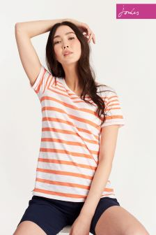 Joules Bright Orange Stripe Nessa Top
