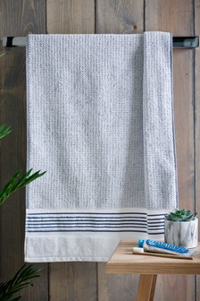 Blue Stripe Trim Towels