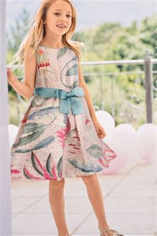 Printed Jacquard Prom Dress (3-14yrs)