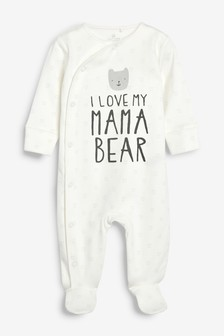 I Love My Mama Bear Slogan Sleepsuit (0mths-2yrs)