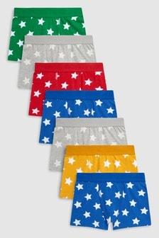 מארז של שבעה זוגות תחתונים עם כוכבים (גילאי 2 עד 16)