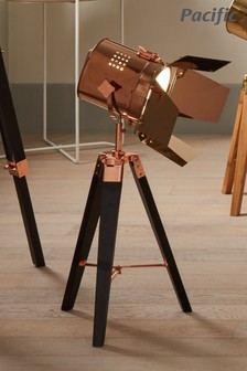 Pacific Black Hereford Tripod Table Lamp