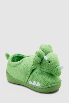 aeb38ff642b Knitted 3D Dinosaur Slippers (Younger)
