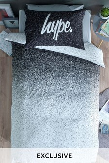 Hype. Mono Ombre Print Duvet Cover and Pillowcase Set