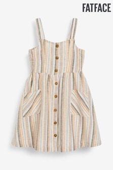 FatFace Natural Aubrey Sunset Stripe Dress