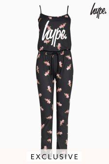 Hype. Floral Print Jumpsuit
