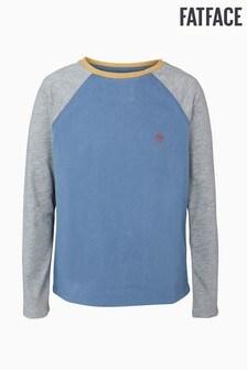 FatFace Blue Raglan T-Shirt