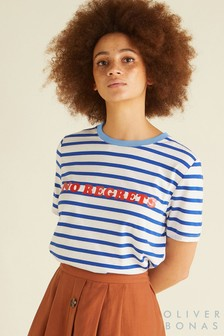 Oliver Bonas Blue No Regrets T-Shirt
