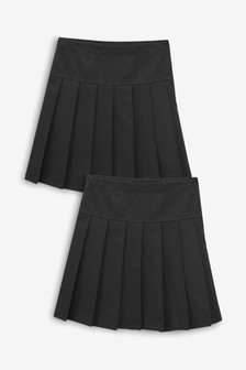 Dwie, długie spódnice plisowane (3-16 lat)