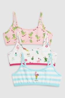 Flamingo Crop Tops Three Pack (Older Girls)