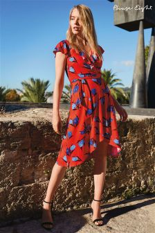 Phase Eight Red/Blues Idella Tulip Print Dress