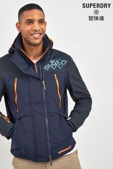 Superdry Navy Hooded Jacket