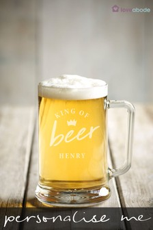 Personalised King Of Beer Pint Glass by Loveabode
