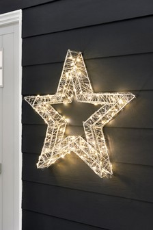 Lit Outdoor Star Decoration