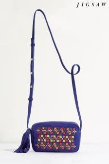 Jigsaw Moroccan Burcha Embroidered Cross Body Bag