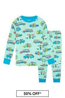 Hatley Kids & Baby Hatley Blue Surfs Up Organic Cotton Pyjama Set