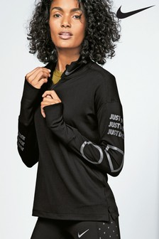 Nike Black Element Half Zip Fleece Top