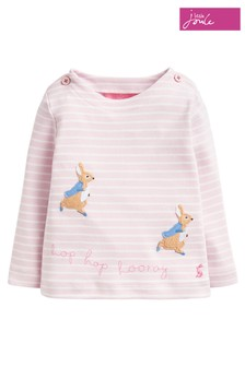 Joules Pink Harriet Appliqué Top