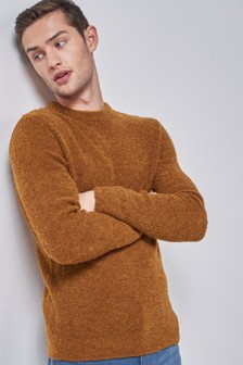 Bouclé Crew Neck Sweater